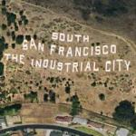 South San Francisco's Sign Hill (Google Maps)