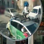Reflection of a Google car