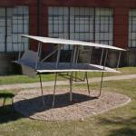Chanute-Herring 1896 Biplane Glider sculpture (StreetView)