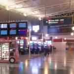 Slot machines at the airport
