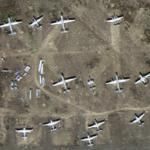 Airplane graveyard (Google Maps)