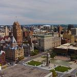 Drone view of Syracuse