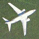 Airplane (Tunisair Boeing 737) aproaching Orly Airport (Google Maps)