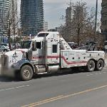 Tow truck with three axles