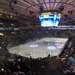 Professional Hockey match at Madison Square Garden