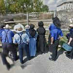 Amish in a zoo (StreetView)