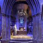 Headmaster's office on the Harry Potter set