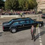 Limo carrying Barack Obama