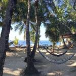Hammocks on Belize island