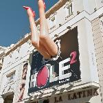 """The Hole 2"" giant legs (Teatro La Latina)"