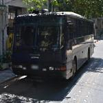 Greek police riot bus