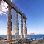 Aegean from Temple of Poseidon (StreetView)