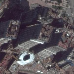 Chongqing Chaotianmen Towers under construction (Google Maps)
