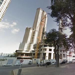 Alvear Tower Puerto Madero (tallest building in Argentina) under construction (StreetView)