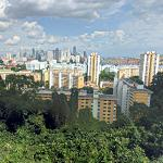 Singapore skyline as seen from Mount Faber