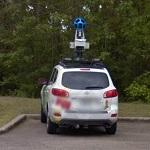 Parked Google car
