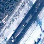 Xia Class Missile Sub in Drydock at Jianggezhuang Underground Sub Base