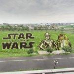 Star Wars Rice Paddy Art