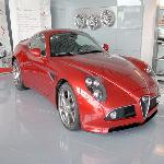 Alfa Romeo 8C in car showroom (StreetView)
