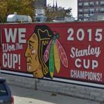 Chicago Blackhawks 2015 championship mural