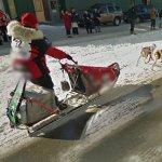 Aliy Zirkle Approaching Iditarod Finish Line (StreetView)