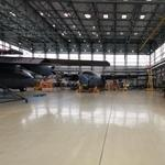 Inside a 33rd Air Base hangar