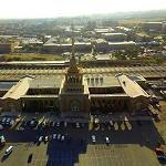 Aerial view of Yerevan railway station (StreetView)