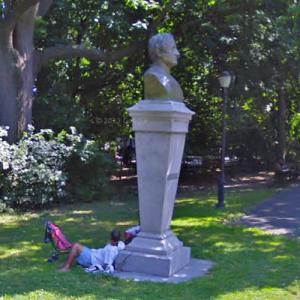 Bust of Washington Irving (StreetView)
