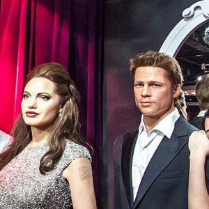 Brad Pitt and Angelina Jolie at Madame Tussauds Amsterdam (StreetView)