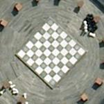 Chessboard and pieces (Google Maps)