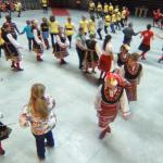 People dancing Bulgarian folk dance