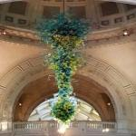 'Ice Blue and Spring Green Chandelier' by Dale Chihuly