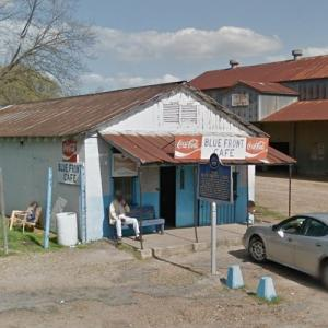 Blue Front Cafe - Mississippi Blues Trail marker (StreetView)