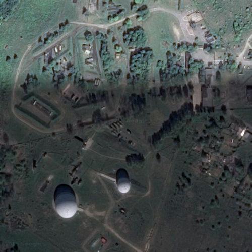 Radar domes armed sam site in mamonovo russian