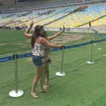 Girls taking a selfie at Maracanã Stadium
