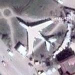 Tupolev Tu-16 as gate guardian (Google Maps)