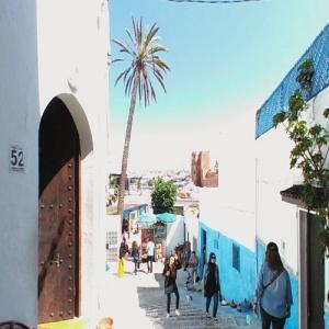Beautifully framed Kasbah of the Udayas (StreetView)