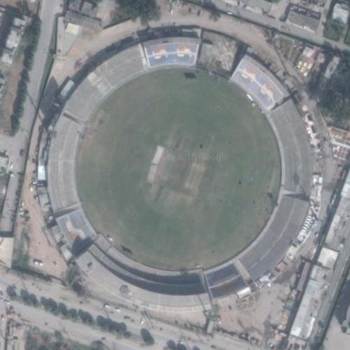 Rawalpindi Streets: Rawalpindi Cricket Stadium In Rawalpindi, Pakistan (Google