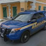 United States Virgin Islands police car