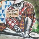 """Welcome To Real Brazil"" mural by Eduardo Kobra"