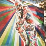 """The Thinker"" mural by Eduardo Kobra"