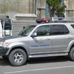 Presidential security car in La Paz