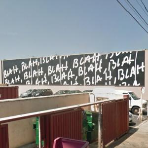 "'Blah, blah, blah"" by Mel Bocher (StreetView)"