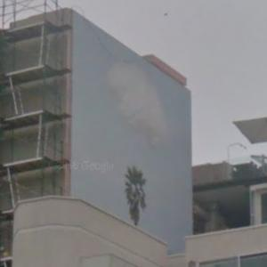 'Brain/Cloud (with Seascape and Palm Tree)' by John Baldessari (StreetView)
