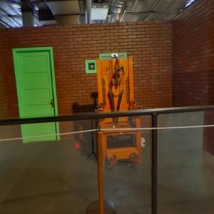 "Electric chair of Texas ""Old Sparky"" (StreetView)"