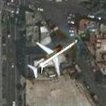 Airplane landing soon at Mexico City (Google Maps)