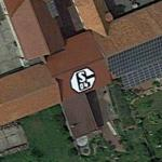 FC Schalke 04 logo on the roof