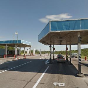 Checkpoint to the closed city of Severomorsk (StreetView)