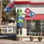 Alien in Domino's Pizza