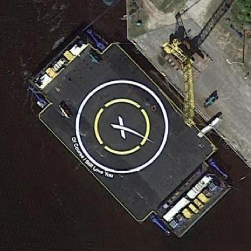 Of Course I Still Love You Drone Ship SpaceX In Jacksonville FL Google Maps